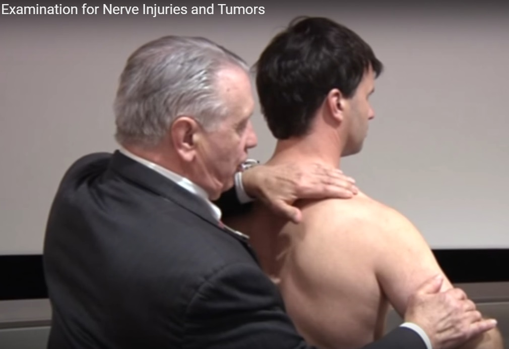 Physical examination for nerve injuries and tumours