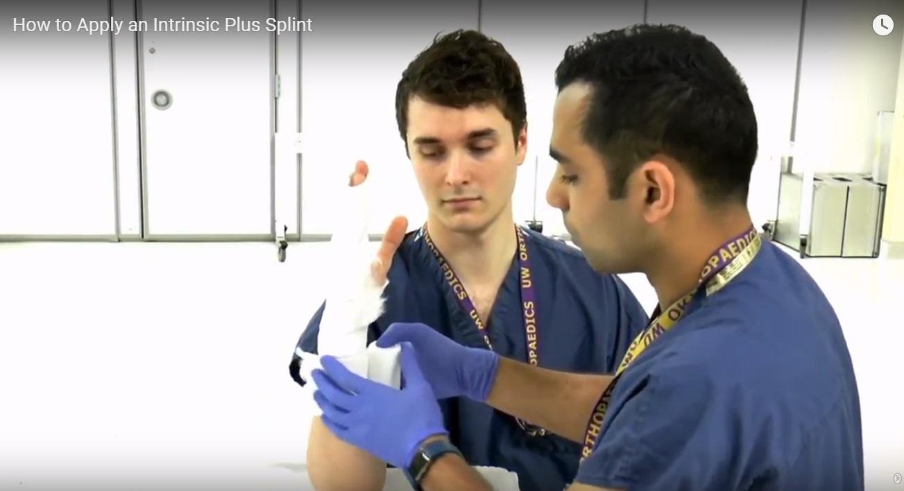How to apply an Intrinsic Plus Splint